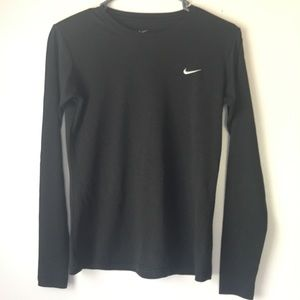 EUC Black Nike Dri-Fit Long Sleeve Shirt